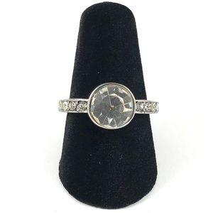 Beautiful Vintage Silver Rhinestone Ring Size 6.25